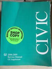 2006-2009 Honda Civic GX Supplement Service Repair Manual Dealership Workshop