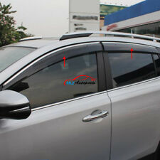 Window Sun Rain Visor Deflector Guard Steel Strip For Toyota RAV4 XA40 2016 2017
