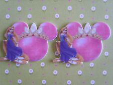 2 x Large Princess Mickey Crown Flatback Planar Resin, Embellishment, Hair bow