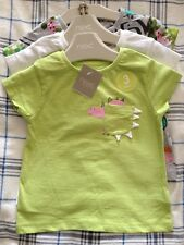 BNWT New Next Baby Girls 12-18 Months Dinosaur Dino Cotton T Shirts 3 Pack Set