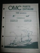 1984 OMC Johnson Evinrude Outboard Parts Catalog Manual 100 HP Commercial