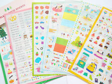 Kawaii Diary Deco MadelineTransparent Kitsch Scrapbooking Cute Sticker Set 7pgs