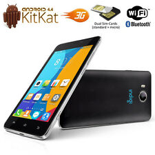"""Indigi 5.0"""" Android 4.4 DualSim 3G SmartPhone 2Core Black Unlocked AT&T T-Mobile"""