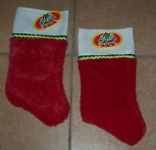 Rite-Aid YULE RITE Red & White Plush Christmas Holiday Stockings