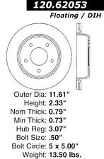 Disc Brake Rotor-High Performance Drilled and Slotted Centric 127.62053L