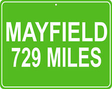Leave it to Beaver Mayfield, OH mileage distance from sign your house