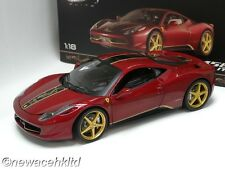 FERRARI 458 ITALIA CHINA LIMITED EDITION ELITE HOTWHEELS MODEL 1/18 #BCK12