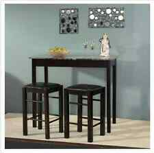 Breakfast Nook Tables With Chairs Set Bar Counter Height High Small Stools NEW