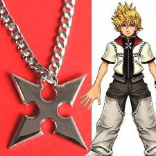 KINGDOM HEARTS COLLANA Necklace Ciondolo Sora Roxas Cross Pendant Figure 2 3
