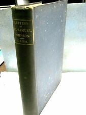 Letters of Dr. Samuel Johnson By: George Birkbeck Hill 1892 Vintage Book Vol. II