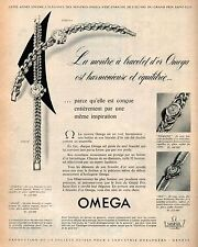▬► PUBLICITE ADVERTISING AD Montre Watch OMEGA 1954