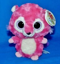 "Aurora Yoohoo Friends Pink Beaver (Big Eyes) w/Sound (6"") Plush Boys Girls 3+ EX"