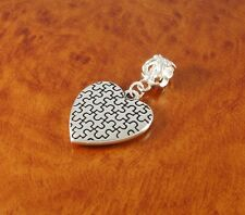 Silver Autism heart charm bead puzzle charm for European bracelet or necklace