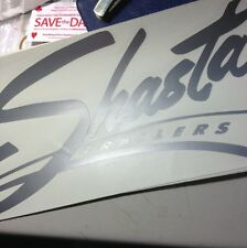 Silver Shasta Travel Trailer Vintage style decal