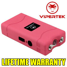 VIPERTEK Stun Gun PINK VTS-880 60 Million Volt Mini Rechargeable LED Flashlight