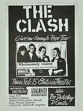 "The Clash Ontario 16"" x 12"" Photo Repro Concert Poster"