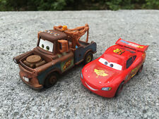 Mattel Disney Pixar Cars Lighting McQueen & Mater Metal Toy Car New Loose