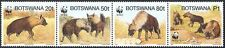 Botswana 1995 WWF/Hyena/Animals/Nature/Wildlife/Conservation 4v strp (n16720)