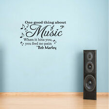 One Good Thing About Music Wall Quote Decal Home Vinyl Sticker Art Mural Decor