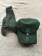 Three  vintage webbing side pouch army surplus  miliary fishing hunting shooting