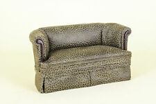 Dollhouse Miniature  LEATHER SOFA   2418-MH    BESPAQ DIRECT