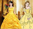 P133 COSPLAY beauty and beast princess belle Costume tailor made kid adult GOWN