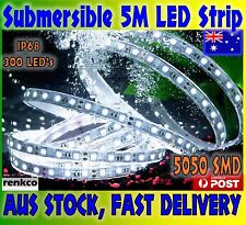 5M IP68 5050 300 LED COOL WHITE FLEXIBLE STRIP LIGHT WATERPROOF SUBMERSIBLE