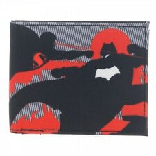 OFFICIAL BATMAN V SUPERMAN FIGHTING RED AND BLACK BI-FOLD WALLET *BRAND NEW*