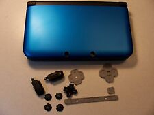 Nintendo 3DS XL Housing Top,Bottom Cover Blue Shell Parts Full Outside Set