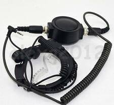 Big PTT Military Throat Mic Earpiece Headset for Yaesu VX-1R VX-2R VX-3R VX-180