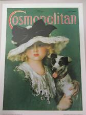 "Cosmopolitan Magazine Art Poster Print May 1923 Girl & Dog Jack Russell 18""x24"""