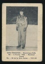 1951-52 Laval Dairy (QSHL) #58 DON PENNISTON -Coach (Shawinigan)