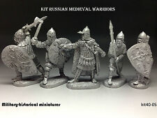 Tin soldiers 40 mm kit Russian medieval warriors