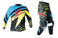"Progrip MX- Motocross-Enduro Clothing-Kit Blue/Yellow 38"" Waist - 3XL Shirt"