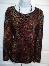 SHARON ANTHONY Women's PULL OVER  STRETCH  Top Blouse Size  X LARGE