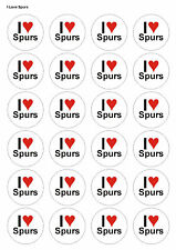 24X PRECUT SPURS FOOTBALL BIRTHDAY EDIBLE WAFER CUPCAKE CAKE TOPPERS 1379
