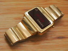1975 Vintage Omega Digital 1 LED RARE Cal# 1602 Gold Fill Watch ~ Spares Parts