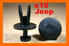 10 Chrysler Jeep front rear bumper fender fascia scuff strip fastener clips
