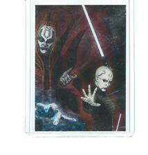 2012 STAR WARS GALAXY ETCHED-FOIL CARD DARTH SIDIOUS PUZZLE #1
