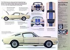 1966 Ford Mustang Shelby GT350 Fastback 289 ci 306 hp IMP info/Specs/photo 23x8