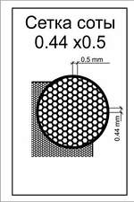 ACE s006 Photo etched: Honeycomb mesh - cell 0.5mm