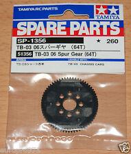 TAMIYA 51356 tb-03 06 Modulo ingranaggio cilindrico (64t) (tb03/tt02r/* tt02), Nuovo con imballo