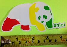 "ENJOI RASTA PANDA STICKER 4.5"" X 2.5"" FREE SHIPPING IN THE USA"