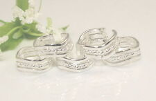 Wholesale Lots 10pcs  Silver Fashion wavy toe rings Adjustable Y28