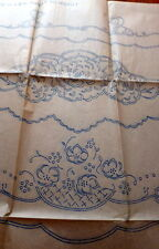 VTG 1940s Transfer Pattern PILLOW SLIPS MOTIFS UNCUT