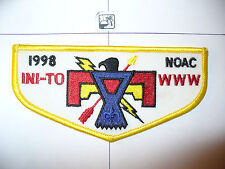 OA Ini - To Lodge 324,F-4,1998 NOAC Flap,Thunderbird,Flint River Cncl,Griffin,GA