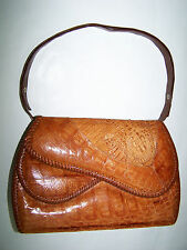 BORSA VERO COCCODRILLO VTG '40/50 GENUINE CROCODILE SKIN HAND BAG
