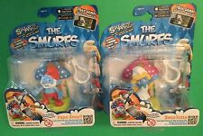 SMURFS LOT 2 Smurfette & Papa SWAPPZ figures SCAN COLLECT PLAY GAMES NEW PEYO