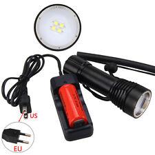 Underwarter100m 4000lm 4X XM-L L2 LED Buceo Linterna antorcha Lámpara Luz 26650