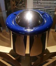 ALESSI  ICE BUCKET  STAINLESS STEEL MIRROR FINISH AND BLUE RESIN BEAUTIFUL!